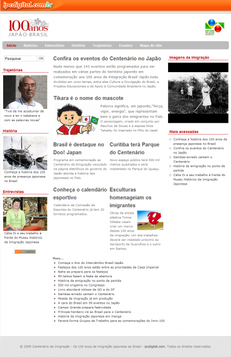 Capa do site